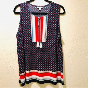 Charter Club sleeveless blouse